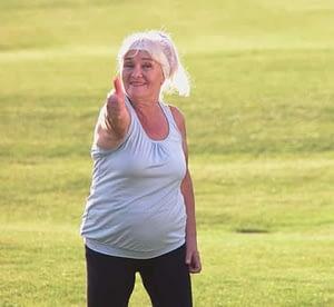 energetic elderly woman