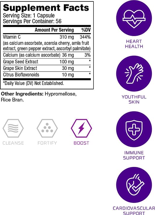 Vinali Supplement Facts