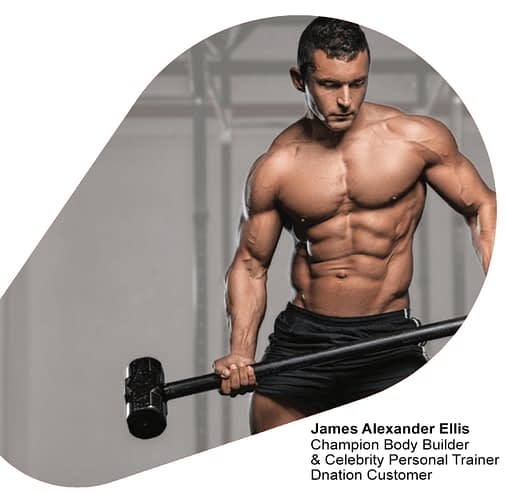 Champion Body Builder & Celebrity Personal Trainer Dnation Customer