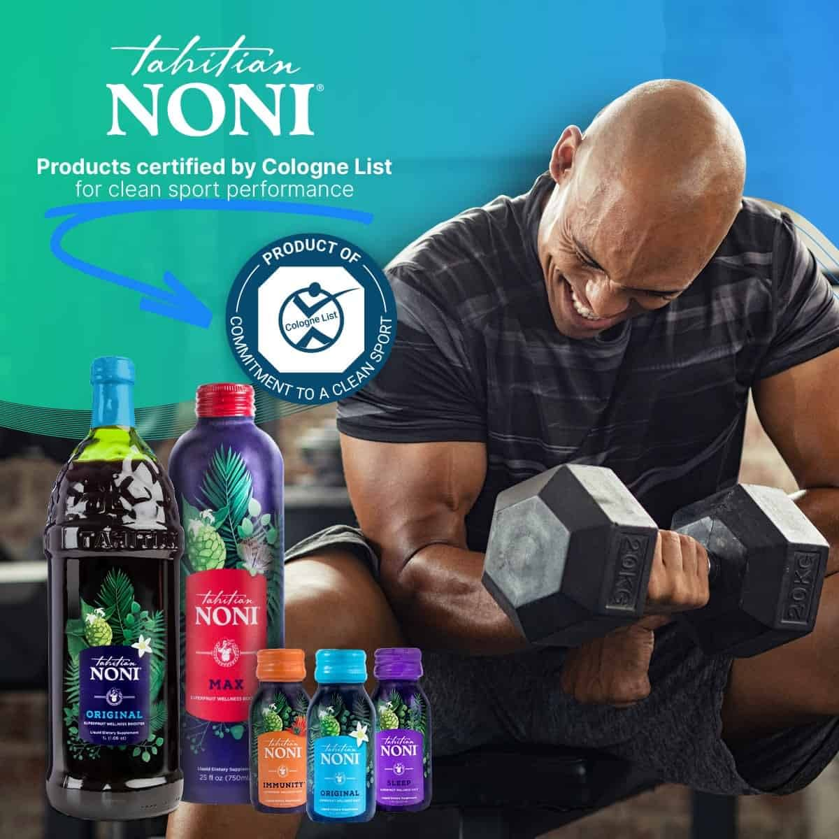 NONI Products Certified by Cologne List