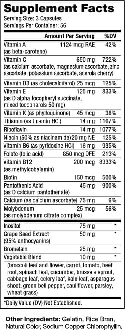 Optimal-V Supplement Facts