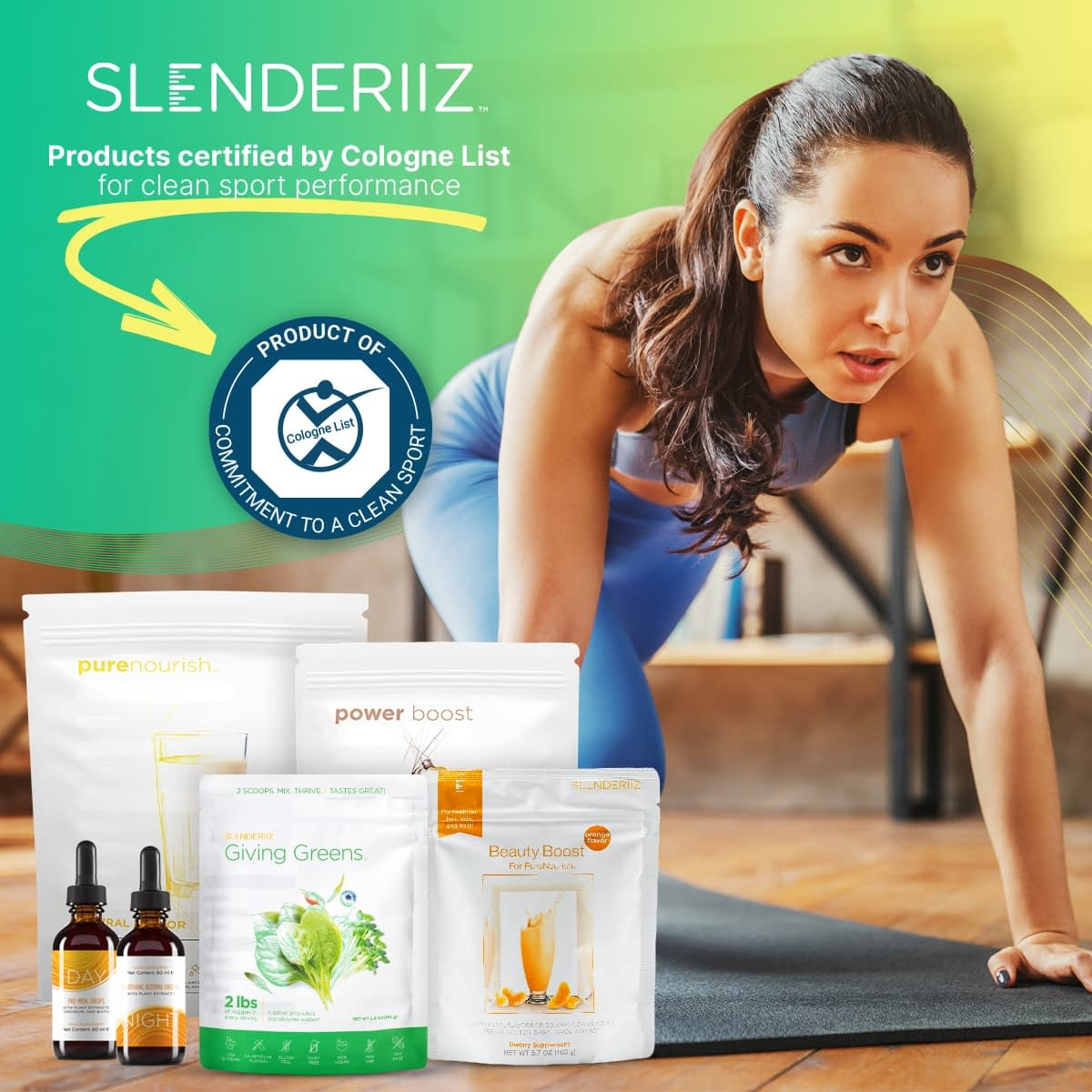 Slenderiiz Products Certified by Cologne List