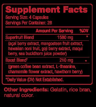 Rejeuveniix Supplement Facts