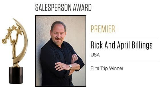 Rick Billings 2016 Salesperson Award